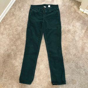 J Crew Green Corduroy Pants